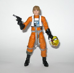 luke skywalker x-wing pilot star wars the black series archive series basic action figures 2019 hasbro g (tjparkside) Tags: luke skywalker xwing pilot x wing star wars black series archive blue 2018 2019 basic action figure figures 6 six inch rebel rebels episode 4 iv four new hope anh blaster blasters pistols pistol rifle rifles 10 2015 death trench run removable helmet lightsaber hilt blade ignited hasbro