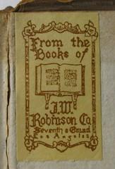 Penn Libraries PQ2065.P3 E5 1799: Bookplate/Label