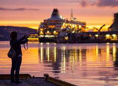 Bergen harbour, Norway (TeunJanssen) Tags: norway bergen brygge harbour sunset reflection reflecting dof depthoffield olympus omd omdem10 europe travel traveling backpacking