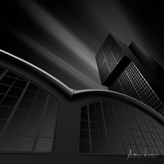 Next Level (Alec Lux) Tags: bw bnw rotterdam architecture art black blackandwhite building buildings canal city cityscape exterior facade fine fineart haida haidafilters longexposure netherlands nhow outdoor outside skyline terminal urban white