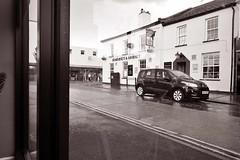 somerset and dorset (robertwaynelester) Tags: burnham sea sd somerset dorset car coffee corner wide street