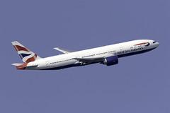 British Airways 777-200 G-ZZZA at London Heathrow LHR/EGLL (dan89876) Tags: british airways boeing 777 b772 777200 777236 gzzza london heathrow international airport takeoff 09r banking lhr egll