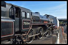 No 75014 Braveheart 22nd May 2019 Dartmouth Steam Railway Churston (Ian Sharman 1963) Tags: no 75014 braveheart 22nd may 2019 dartmouth steam railway churston class 4mt 460 station engine rail railways train trains loco locomotive heritage line