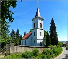 Kirche zu Collm (Christoph Bieberstein) Tags: sachsen nordsachsen lösshügelland saxony deutschland germany europa juni june collm dorfkirche romanik saalkirche