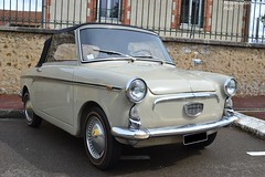 Autobianchi Bianchina Cabriolet (Monde-Auto Passion Photos) Tags: voiture vehicule auto automobile autobianchi bianchina cabriolet convertible roadster spider blanc white petite little rare rareté collection ancienne classique france courtenay rassemblement