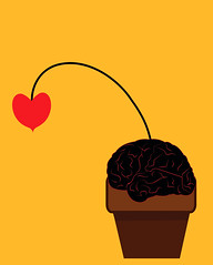 illustration of a dried flower in shape of a heart in a pot with soil as brain (illustrationvintage) Tags: concept conceptual symbol creative mind abstract design human isolated graphic brainstorm medical medicine inspiration disease health icon knowledge planning computer learn connection digital thinking think network solution education art innovation business intelligence creativity science head technology pot flower plant dried dry brain heart