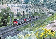 Savage Coal Train (jamesbelmont) Tags: southernpacific ge ac4400cw csvma coal savage moapa train locomotive railroad railway pricecanyon utahrailwayjunction utah
