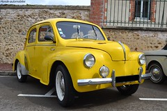 Renault 4cv (Monde-Auto Passion Photos) Tags: voiture vehicule auto automobile renault 4cv petite little ancienne classique collection jaune yellow rassemblement france courtenay
