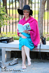 Reading (Levi Smith Photography) Tags: hat woman women womens fashion womans book reading summer day park botanic sunset backlight backlit black sun pink turquoise color shoes barefoot purse natural life portrait sudden moment