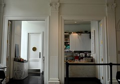 The Afterthought Cafe (MPnormaleye) Tags: cafe coffeehouse coffee tea snacks bakery utata nyc 24mm museum columns door counter