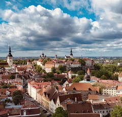 the historic section of Tallinn (ABWphoto!) Tags: europe estonia tallinn unesco city old archticture nobody sky buildings traveldestination