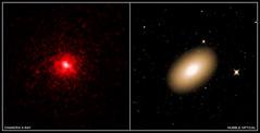 Heart of Lonesome Galaxy Is Brimming with Dark Matter (NASA's Marshall Space Flight Center) Tags: nasa nasasmarshallspaceflightcenter nasamarshall marshall msfc chandraxrayobservatory cxo hubblespacetelescope hst solarsystembeyond astronomy astrophysics antimatter darkmatter xray galaxy