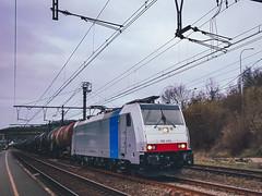 LINΞΛS 186 454 met keteltrein @ Diest (Avinash Chotkan) Tags: lineas br186 traxx bombardier railpool gatx trains belgium cargo