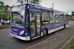 Courtney 194 (stavioni) Tags: purple single decker bus adl alexander dennis enviro 200 courtney buses 194 kx64ael