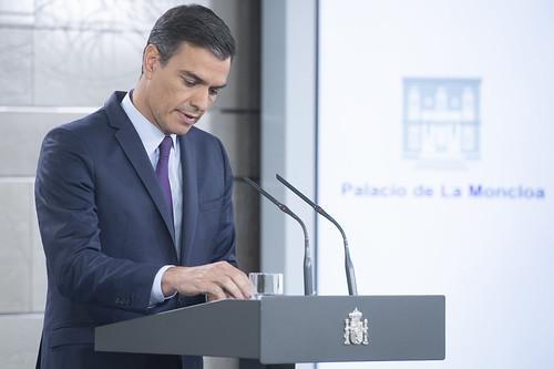 Comparecencia de Pedro Sánchez en La Moncloa (06/06/2019)