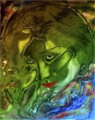 REMY STEPHANIE 1997 CASQUE (REMYRO) Tags: concept surréaliste sentiment noir et blanc colorisé portrait couleurs
