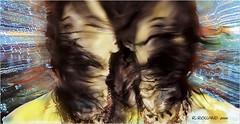 REMY DOUBLE TETE 1998 (REMYRO) Tags: concept surréaliste sentiment noir et blanc colorisé double tête movement