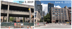 Before and after viaduct demolition at University Street (WSDOT) Tags: seattle gp construction wsdot alaskan way viaduct replacement demolition 2019 waterfront downtown