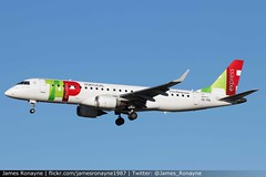 CS-TPS | Embraer 190LR | TAP Express (james.ronayne) Tags: cstps e190 tap air portugal toulouse blagnac tls lfbo aeroplane airplane plane aircraft airliner aviation flight flying canon 80d 100400mm raw sky jet jetliner pax embraer 190lr express
