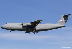 USAF C-5M 86-0026 (birrlad) Tags: stansted stn airport london uk aircraft aviation airplane airplanes arrival arriving finals landing runway military usaf airforce vip supoort donaldtrump visit state reach lockheed c5 galaxy 860026 c5m travis