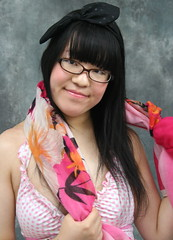 Seek To Be Unique. (emotiroi auranaut) Tags: girl woman cute pretty individual individuality style fashion accessories glasses scarf polkadots