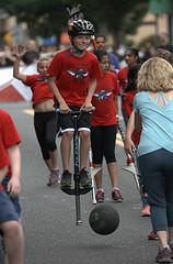 Parade Pogo Sticking (Scott 97006) Tags: parade kids pogo bounce entertainment skill cute midair ball