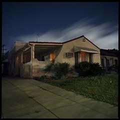 Night light house (ADMurr) Tags: la brookside house hasselblad 500cm 50mm distagon kodak ektar mf 6x6 square dba983
