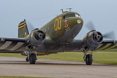 C-47B Betsy's Biscuit Bomber N47SJ (Mark_Aviation) Tags: c47b betsys biscuit bomber n47sj c47 dc3 dakota skytrain berlin air lift veteran iwm duxford part daks over 5 years since dday normandy egsu aerodrome imperial museum douglas usa usaaf raf