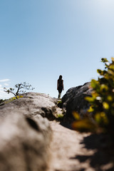 The Path (Top KM) Tags: ifttt 500px exploring travel outdoors summer rock formation day woman girl people one person canada british columbia bc explore exploration tree path sunny sky daylight way abandoned hiker hiking hillside peak nature walking