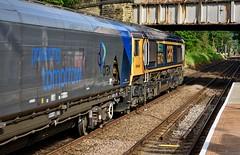 Brighouse West Yorkshire 7th June 2019 (loose_grip_99) Tags: brighouse calderdale west yorkshire england uk train railway railroad rail lyr lancashireyorkshirerailway transportation freight biomass class66 emd 66741 gbf station trains railways june 2019