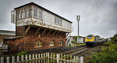 43143 passes Arbroath North signal box (robmcrorie) Tags: 43143 high speed train class 43 hst inter city 125 scotrail arbroath north signal box scotland nikon d850 1z10