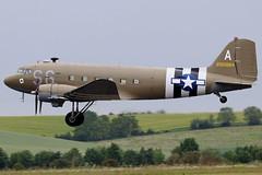 N147DC (GH@BHD) Tags: n147dc 2100884 douglas dc3 c47 c47a usaf unitedstatesairforce aceshigh aircraft aviation airliner propliner military duxfordairfield duxford imperialwarmuseum