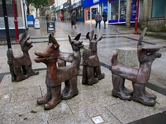 07 June pic of the day (Boffin PC) Tags: redruth sculpture cornwall boots dogs