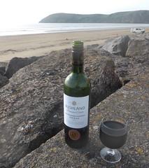 Bushland at Brean (andreboeni) Tags: bushland shiraz wine redwine glass bottle sea beach brean sands down