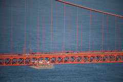 suicide barrier installation (pbo31) Tags: sanfrancisco california bayarea color nikon d810 june 2019 boury pbo31 goldengate 101 bridge marincounty northbay over orange pacific ocean blue life suicide barrier installation