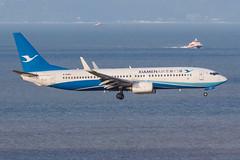 XIAMEN AIR B737-800(WL) B-6482 003 (A.S. Kevin N.V.M.M. Chung) Tags: aviation aircraft aeroplane airport airlines plane boeing b737 b737800wl xiamenairlines macauinternationalairport mfm spotting landing flying