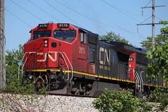 Ex-warbonnet (DonnieMarcos) Tags: railroad railfanning rail railway railfan railroads rails trains train trainspotting traintrack traintracks track chi chicago chicagoarea cnfreeportsub freeport cn cnr canadiannational cnrr freeportsub ic icrr illinoiscentral cnm337 cnm33791 m337 m33791 dash8 dash840cw atsf ge generalelectric c408w gedash8 berwynil berwyn