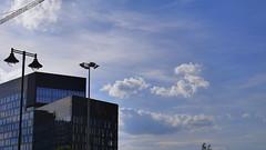 Blue office (rozwadowski44) Tags: office building construction design blue sky outdoor city łódź poland