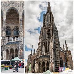 Ulmer Münster (wb.fotografie) Tags: deutschland badenwürttemberg ulm münster kirche ulmermünster kirchturm gotik gotischer baustil architektur sakralesbauwerk wochenmarkt markt