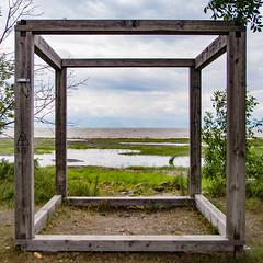 Cube (Lionelcolomb) Tags: blue sea sky canada green geometric water grass lines canon square horizon perspective vert québec cube stlaurent saintjeanportjoli 1200d apple imac sigma adobelightroom
