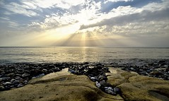 Sunset on sea shore (Inian4mIndia) Tags: nikon sea shore oceanwaves waves sunset sun clouds sky d850 irix wide scene beautiful amazing latest new