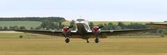 SE-CFP head on EGSU 040619 (kitmasterbloke) Tags: egsu duxford daksoverduxford dc3 douglas c47 c53 aircraft airliner propliner ww2 dday