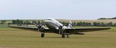 N877MG DC3 EGSU 050619 (kitmasterbloke) Tags: egsu duxford daksoverduxford dc3 douglas c47 c53 aircraft airliner propliner ww2 dday