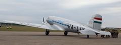 HA-LIX from rear (kitmasterbloke) Tags: egsu duxford daksoverduxford dc3 douglas c47 c53 aircraft airliner propliner ww2 dday