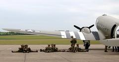 Catching some rest (kitmasterbloke) Tags: egsu duxford daksoverduxford dc3 douglas c47 c53 aircraft airliner propliner ww2 dday