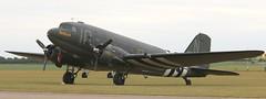 Placid Lassie (kitmasterbloke) Tags: egsu duxford daksoverduxford dc3 douglas c47 c53 aircraft airliner propliner ww2 dday