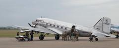 N24320 loading EGSU 050619 (kitmasterbloke) Tags: egsu duxford daksoverduxford dc3 douglas c47 c53 aircraft airliner propliner ww2 dday