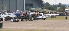 Flight line EGSU (kitmasterbloke) Tags: egsu duxford daksoverduxford dc3 douglas c47 c53 aircraft airliner propliner ww2 dday
