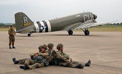 Corporal watching (kitmasterbloke) Tags: egsu duxford daksoverduxford dc3 douglas c47 c53 aircraft airliner propliner ww2 dday