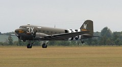 Thats All Brother landing 2 (kitmasterbloke) Tags: egsu duxford daksoverduxford dc3 douglas c47 c53 aircraft airliner propliner ww2 dday